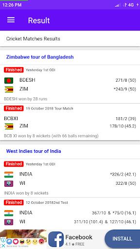 Live Cricket Score 2019 3.0.1 screenshots 2