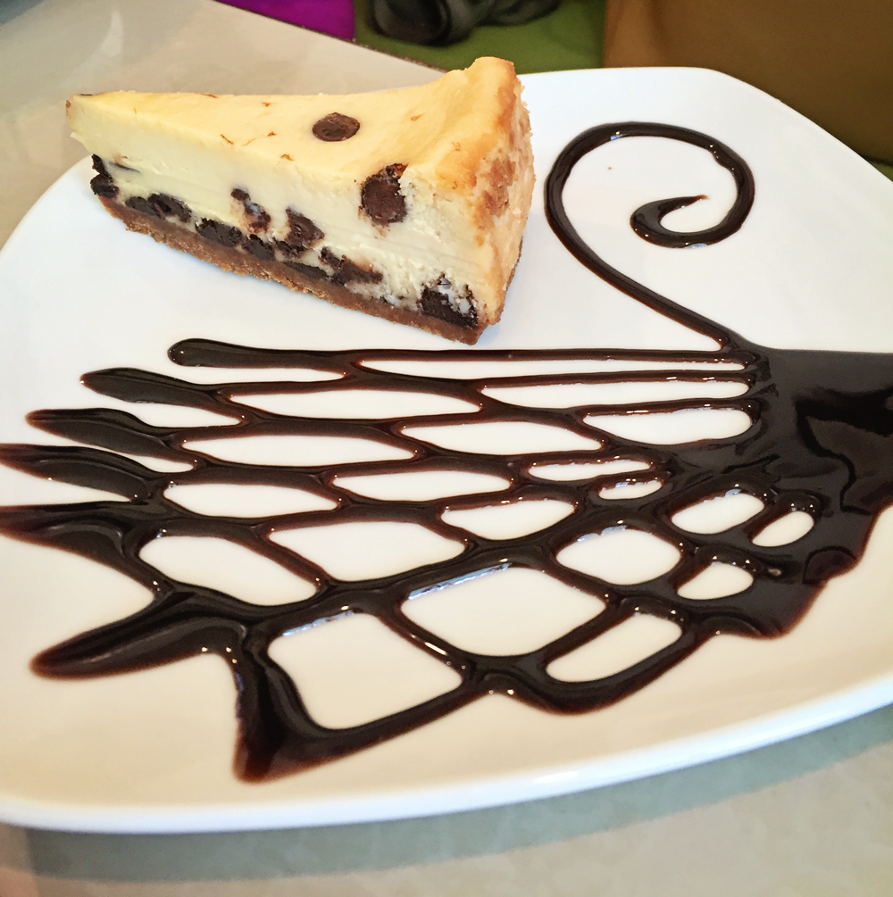 Vaneaty Resto Cafe Choco Chips Cheesecake /><figcaption class=