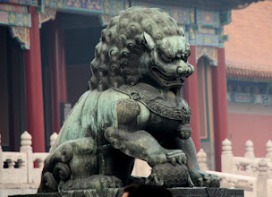 Photo: Day 190 -  Father Lion and Ball (Representing the World),  in The Forbidden Palace