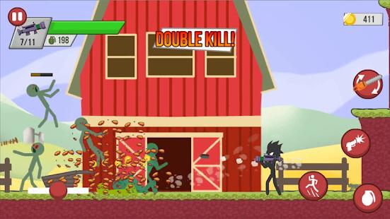 اطلاق النار على الكسالى - Stickman Zombie Shooter Mod