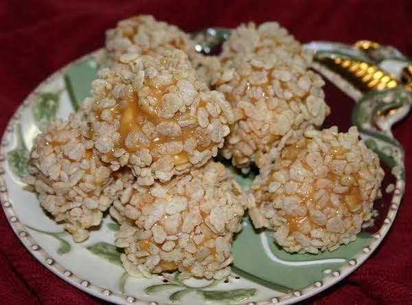 Caramel Marshmallow Krispy Balls