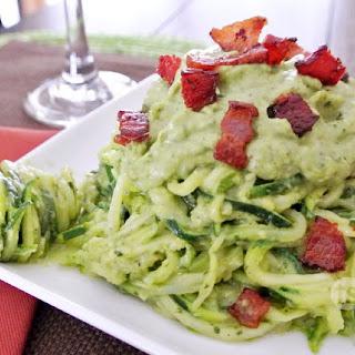 Paleo Basil & Avocado Zucchini Pasta