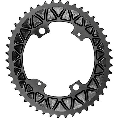Absolute Black Premium Sub-Compact Oval 110 BCD Road Outer Chainring - Shimano Asym BCD, 4-Bolt, Narrow-Wide