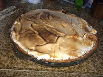 Pumpkin-Molasses Pie with Spiced Meringue
