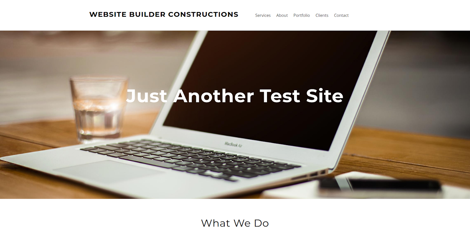 weebly website builder test site