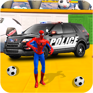 Superheroes Police Car Stunt Top Racing Games