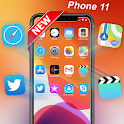 iLauncher Phone 11 Max Pro OS 13 Theme Wallpaper icon