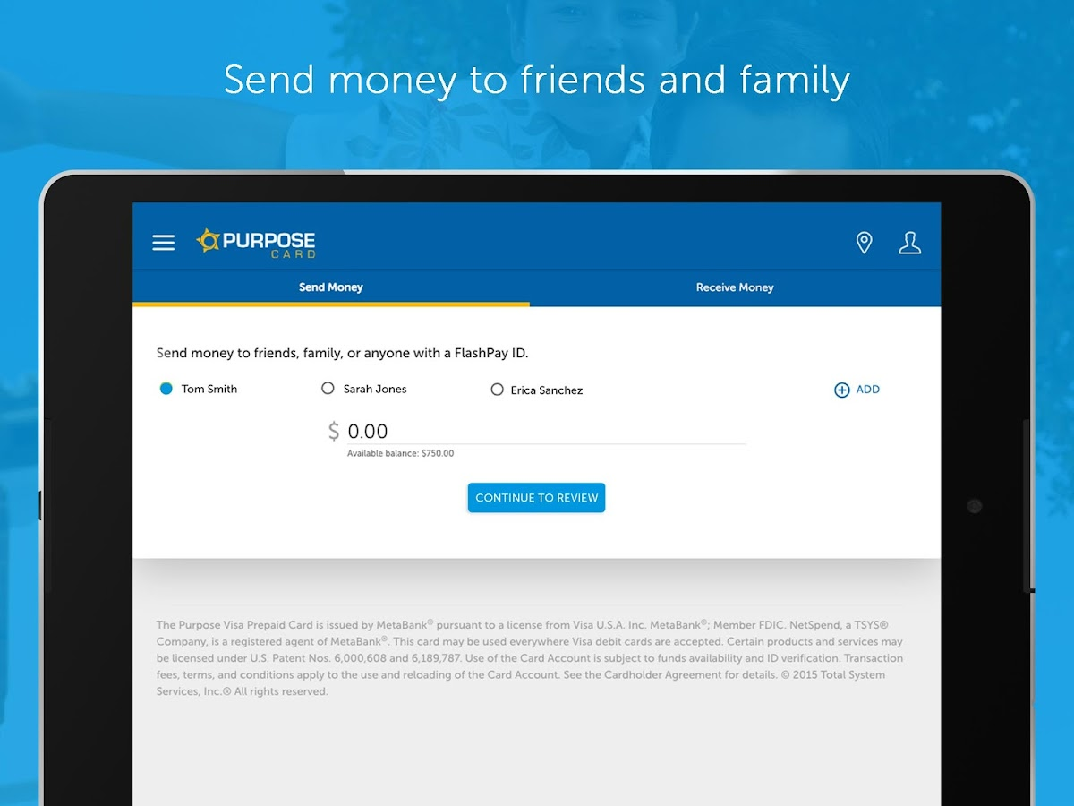 Purpose Card Mobile Banking- screenshot