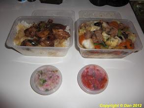 Photo: Poulet sauce huitre et poulet au chop suey