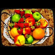 Photo: Fresh fruit basket #intercer - via Instagram, http://instagr.am/p/KRVyY-Jfj3/