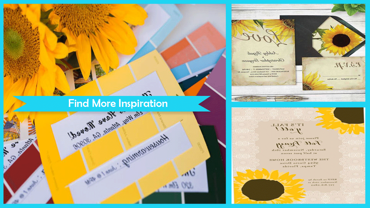 Easy DIY Party Invitation Sunflowers - Android Apps on Google Play