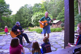 Photo: Performers and audience at Townshend State Park by Linda Carlsen-Sperry
