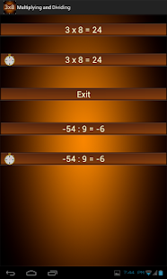 Multiplication and Division Screenshot