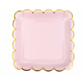 Plate pink/gold