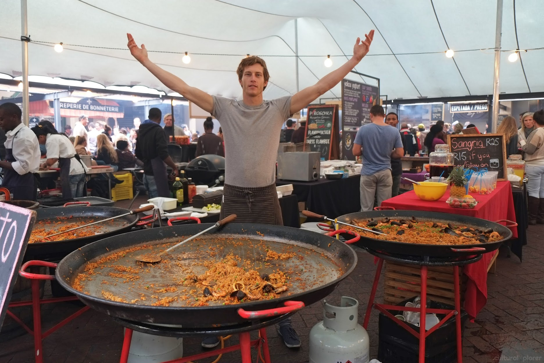 Paella at Neighbourgoods Market Cape Town