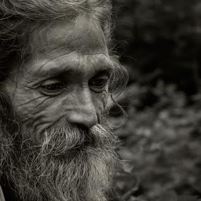Introspective... by Rohit Chawla - People Portraits of Men ( religion, sage, himalaya, cosurvivor, india, ascetic, hinduism, portrait, man )