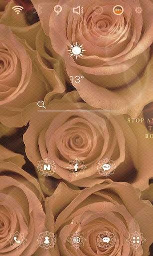Rosy Life launcher theme