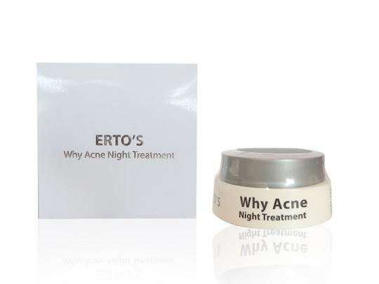 Krim Malam Jerawat Ertos night cream acne ertos krim malam mengobati mengeringkan jerawat wajah menghilangkan bekas jerawat