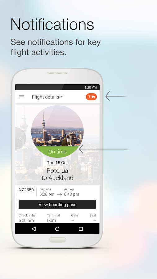 Air NZ mobile app- screenshot