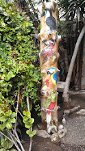 Photo: Day 4: This is a beautiful colorful totem pole that was at the museum.