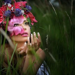 floral goddess  by Gary Mahipus - People Portraits of Women