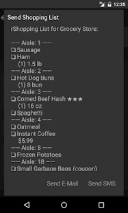 Grocery List - rShopping- screenshot thumbnail