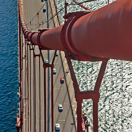 Afternoon by Dan Larsen - Buildings & Architecture Bridges & Suspended Structures ( cable bridge )
