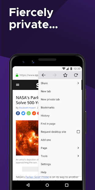 Firefox Browser: fast, private & safe web browser Android App Screenshot
