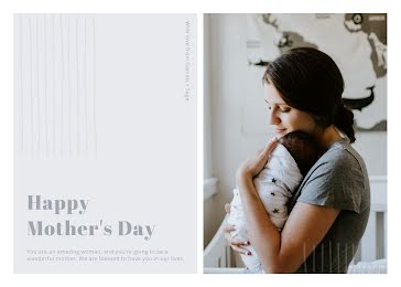 A Wonderful Mother - Mother's Day Card Template