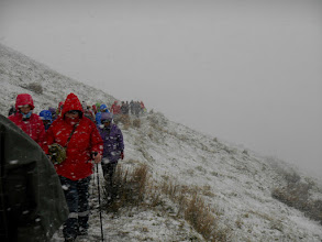 Photo: Saturday C walk. Walkers heading for Lough Curra