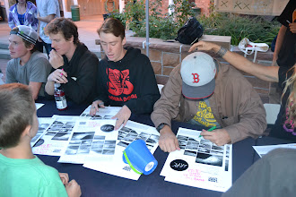 "Photo: The Park City All Stars began the evening by signing ""IRPC"" movie posters for a long line of fans."