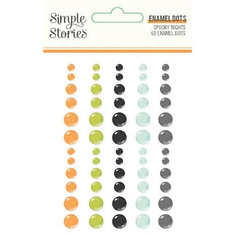 Simple Stories Enamel Dots 60/Pkg - Spooky Nights