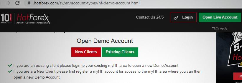Demo account service