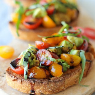 Avocado Bruschetta with Balsamic Reduction Recipe