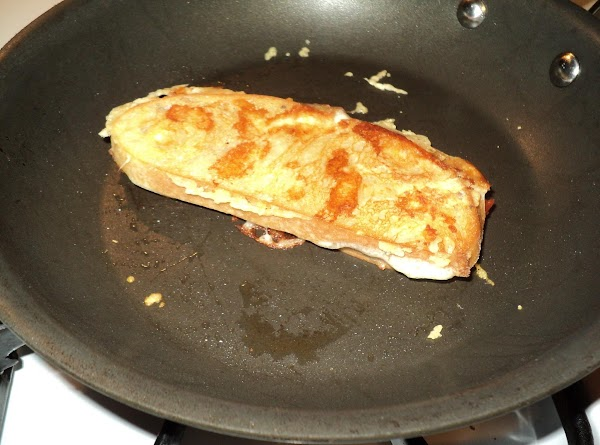 Remove from pan and cut in half...serve immediately. If desired, serve with ranch dressing...