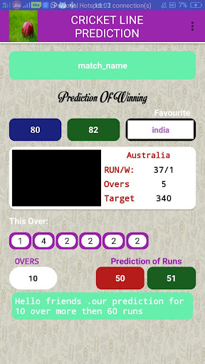 Cricket Line Prediction for PC