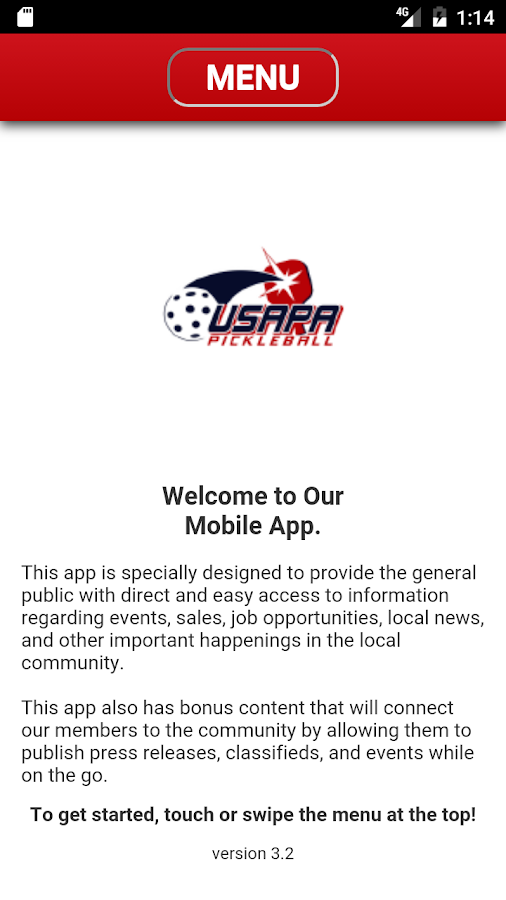 USAPA Pickleball Mobile App- screenshot