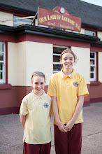 Photo: Aoife Casey and Helen Nagle of Our Lady of Lourdes NS, Ballinlough, Cork.  Winners of medals in the Munster Minor Schools Gala 7th October, 2012.  Aoife won silver in the 10yrs 50m Backstroke and Helen Bronze in the 12yrs 50m Backstroke.  Both girls qualified for the Irish Schools competition in March, 2013 along with three of their team mates and are looking forward to representing their school at all-Ireland level.Photo: Rob Lamb 0876838511Free Photo NO REPRO FEE