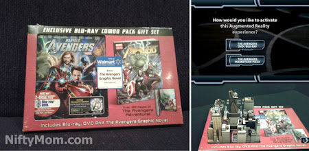 Photo: The Avengers Blu-Ray/DVD/Graphic Novel Combo activated with the Avengers AP app.