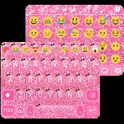 Pink Glitter Keyboard Theme  Icon