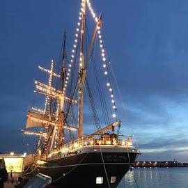 Ship by Linda Kocian - Transportation Boats
