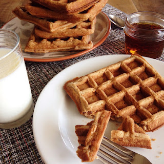 Apple Cinnamon Whole-Grain Waffles