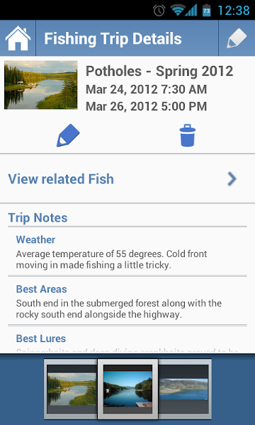 Photo: Trip Details Screen