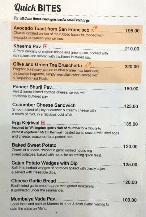 Tea Trails menu 8
