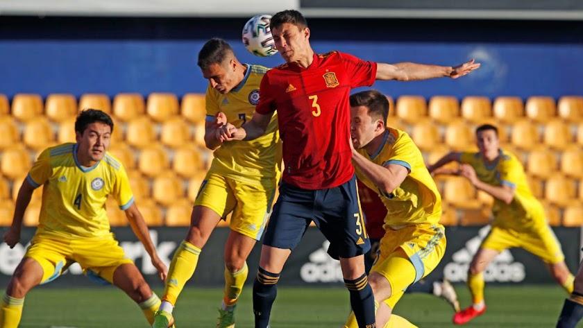 Cuenca en una jugada del partido.