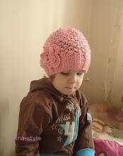 Photo: детская вязаная шапочка с цветком