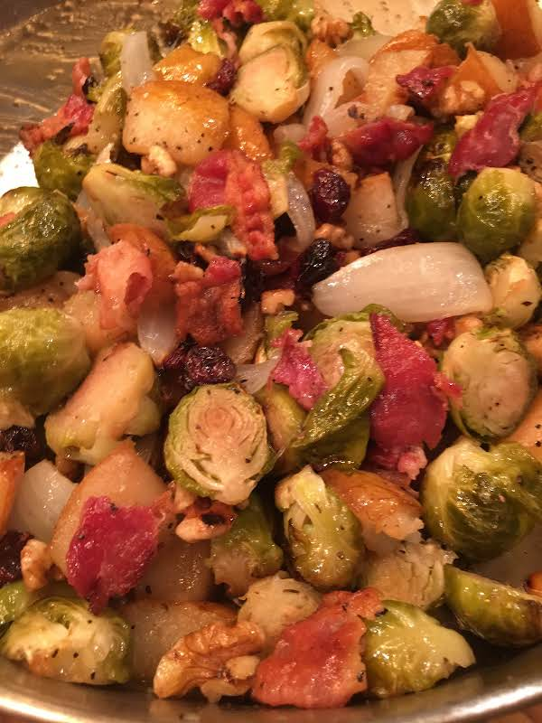 Roasted Brussels Sprouts And Pears -- Bonnie's Recipe