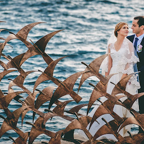 by Zeljko Marcina - Wedding Bride & Groom ( love, wedding, beautiful, croatia, sea, split, bride, groom,  )