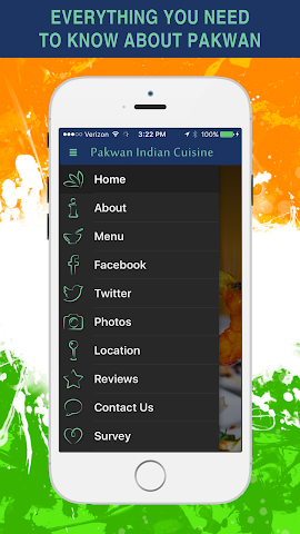 android Pakwan Indian Cuisine Screenshot 1