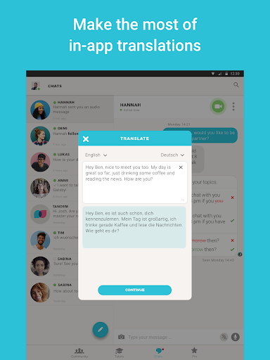 Tandem Language Exchange: Speak & learn languages 2.0.2 screenshots 9